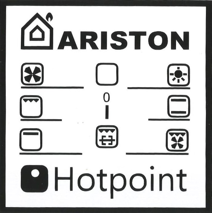 ariston and hotpoint oven decals
