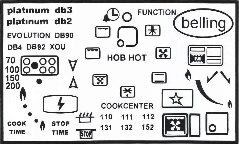 belling oven decals platinum db2 cookcenter