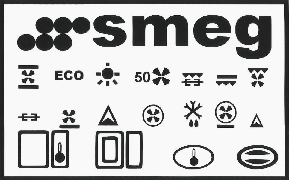 smeg oven decals lettering